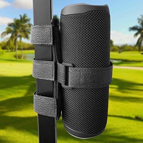 speaker mount for golf carts Nebudo Portable Bluetooth Speaker Mount for Golf Cart Accessories ATV UTV Bike Handlebar Wireless Adjustable Strap Holder for JBL OontZ Anker Doss AOMAIS Attachment Railing Cross Bar Frame Accessory