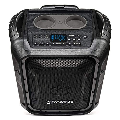 ECOXGEAR EcoBoulder+ GDI-EXBLD810 Rugged Waterproof Floating Portable Bluetooth Wireless 100 Watt...