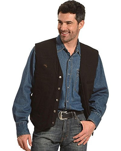 WYOMING TRADERS Mens Texas Concealed Carry Vest, Regular, Color: Black, Size: XL (TB1)