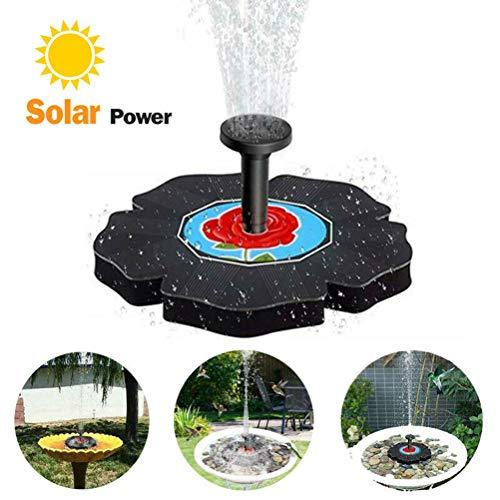 Faviye Solar Springbrunnen Teichpumpe Schwimmender Solarpumpe Solarbrunnen für Garten, Kleiner teich, Vogelbad Pool