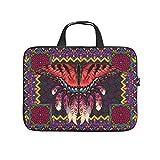 Native American Butteryfly - Funda protectora para portátil, diseño de mariposa, color rojo, blanco (Blanco) - Dogedou670