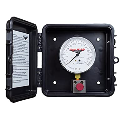310-54-PP Tandem-Axle Exterior Analog Axle Load Scale - For Single Height Control Valve Air Suspensions by Right Weigh, Inc