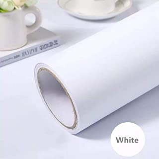 practicalWs White Self-Adhesive Wallpaper Film Stick Paper Easy to Apply Peel and Stick Wallpaper Stick Wallpaper Shelf Liner Table and Door Reform(15.7