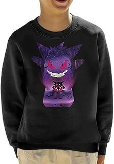Cloud City 7 Gengar Console Silhouette Kid's Sweatshirt