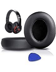 SoloWIT® Almohadillas de Repuesto para Auriculares Beats Studio 2/3 Wired/Wireless, con Cuero de proteína Suave/Espuma de Memoria de Aislamiento de Ruido/Cinta Adhesiva Fuerte