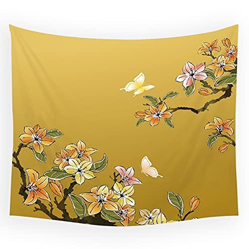 RGFIJP tapizTapiz de Estilo Chino Flores y pájaros Tapices para Colgar en la Pared Decoración del hogar Toalla de Playa Estera de Yoga Manta de Picnic Mantel