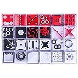 Polai Set di 24 Rompicapo Scatola Mini Puzzle Rompicapo Labirinto Calendario Avvento Alter...