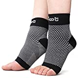 Dr. Foot's Compression Arch Support Sleeves Socks with Comfort Gel Pads for Men & Women, Relief for Plantar Fasciitis, Flat Feet, Foot and Heel Pain (XL - Men's 11+ | Women's 12+)