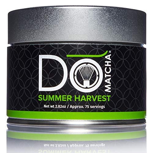 DoMatcha - Summer Harvest Green Tea Matcha Powder, Natural Source of Antioxidants, Caffeine, and L-Theanine, Promotes Focus and Relaxation, Kosher, 75 Servings (2.82 oz)