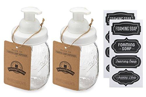 Jarmazing Products Mason Jar Foaming Soap Dispenser