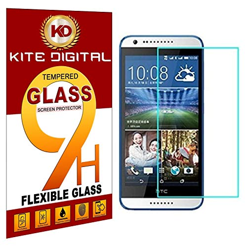 Kite Digital HTC Desire 820 Tempered Glass Screen Protector Slim 9H Hardness 2.5D