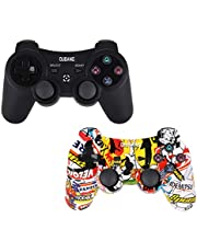 OUBANG Controller Wireless Bluetooth per Playstation 4 Joystick per Gamepad con Cavo USB per PS4 / Windows/Android/iOS, Red
