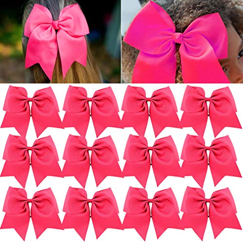 Best cheer bows hot pink for 2021