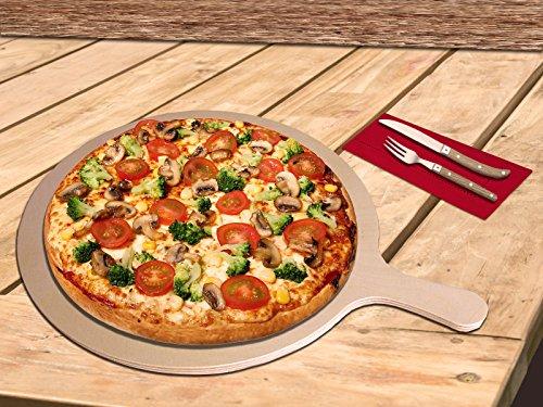 Pizzabrett - formschön & praktisch - Rund - Größe M 33,5 x 25 x 0,9 cm