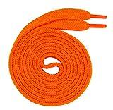 Lacenio Nastri piatti da 7 mm, in poliestere, per scarpe sportive e sneaker, di ricambio, per scarpe da trekking, lacci per scarpe, colore arancione fluo 180 cm