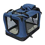 YATEK Transportin para Perros Plegable entradas Laterales y Superiores con Alta Visibilidad, Confort y Seguridad para tu Mascota de tamaño L (70 x 52 x 52 cm)