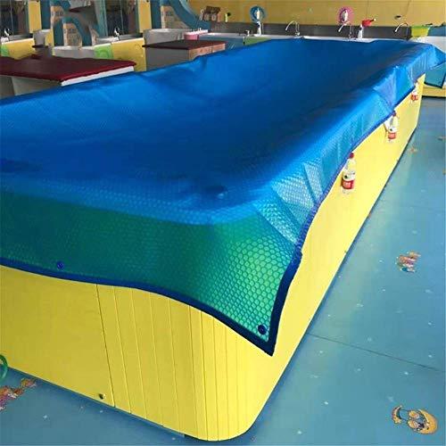 WaiMin Persenning Sonnen Pool Film Schwimm Runde PE 300cm Blau Blase Padding-Deckblatt (Size : 2.5X2.5m)
