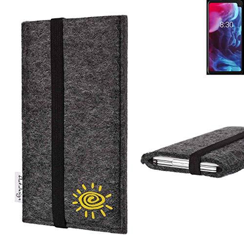 flat.design vegane Handy Tasche Coimbra kompatibel mit Archos Oxygen 63XL Sonne