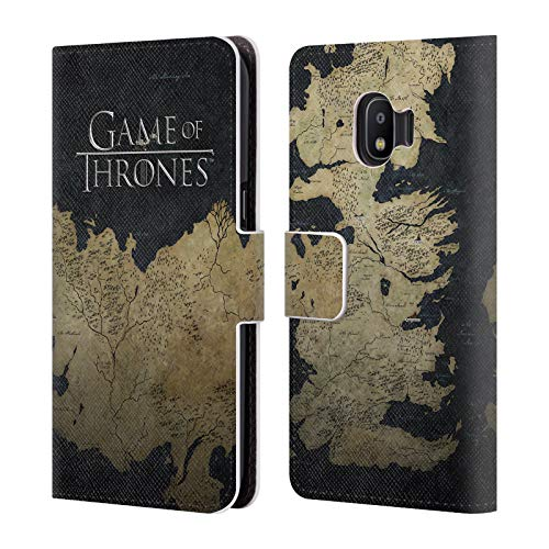 Official HBO Game of Thrones Westeros Map Key Art Leather Book Wallet Case Cover Compatible For Samsung Galaxy J2 Pro (2018)