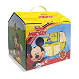 Multiprint Casita 7 Sellos para Niños Disney Mickey, 100% Made in Italy, Set Sellos Niños Persolanizados, en Madera y Caucho Natural, Tinta Lavable no Tóxica, Idea de Regalo, Art.09945