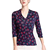 Blusa De Seda La Madre Las Mujeres Capa Camisa La Camisa Manga Larga Botón Suelto Casual Business Beach Holiday Streetwear Top Momme,Natural,XL