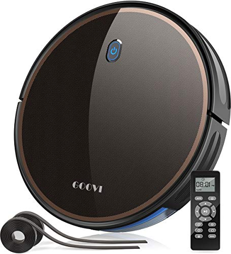 GOOVI Robot Vacuum, 2000Pa Robotic Vacuum Cleaner (Slim) Max Suction, Quiet Multiple Cleaning Modes, Self-Charging Vacuum with Boundary Strips, for Pet Hair, Hard Floor, Medium-Pile Carpet