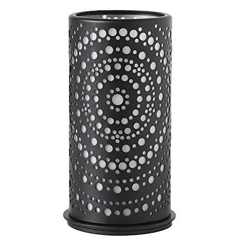 """Kerzenhalter """"Billy"""" von Duni - schwarz, 4er Etui, Metall-Kerzenhalter, Abdeckung mit Schnittmuster"""