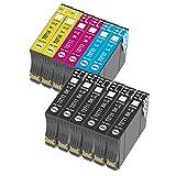 Bada T0715 - Cartucho de tinta compatible con Epson T0711, T0712, T0713, T0714, con Epson Stylus SX218 SX200 SX415 SX400 SX215 BX300F BX310FN SX210 SX215 SX218 DX4050 DX4400 SX100 SX105 SX110 SX115 12