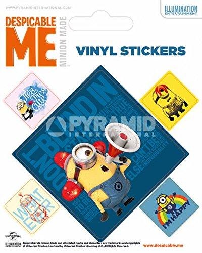Pyramid International Sticker Vinyle Motif Minions Carrés Multicolore 10 x 12,5 x 1,3 cm