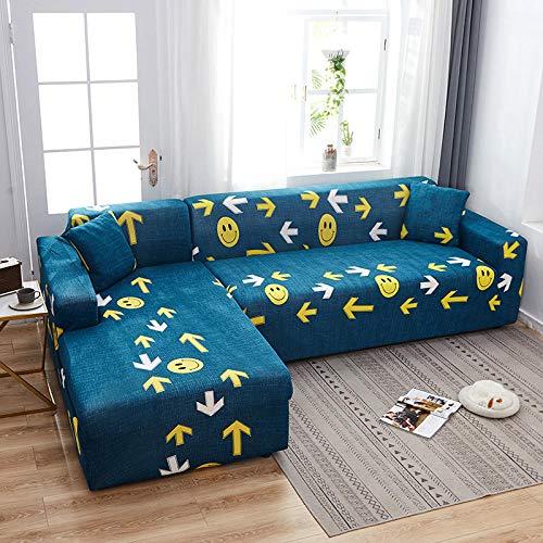 Topashe Funda sofá Duplex,Funda de sofá con Todo Incluido, Funda de sofá elástica-B_145-185cm,elástico Tejido Protector por sofá Funda