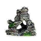 Nigoz Mountain View Acuario Rockery Ocultar Cueva Árbol Pecera Ornamento Decoración Superior Calidad Superior
