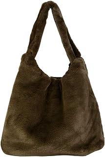 e883440873 Angkorly - Sac à main Cabas en bandoulière Tote bag Fourre-tout fausse  fourrure très