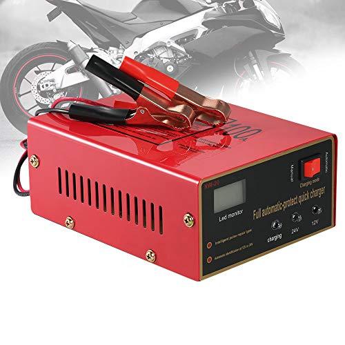 Charger-EJOYDUTY Cargador/mantenedor automático de batería de 12 V 24 V 10A, para batería de Plomo ácido sellada para cortadora de césped de Barco y Barco