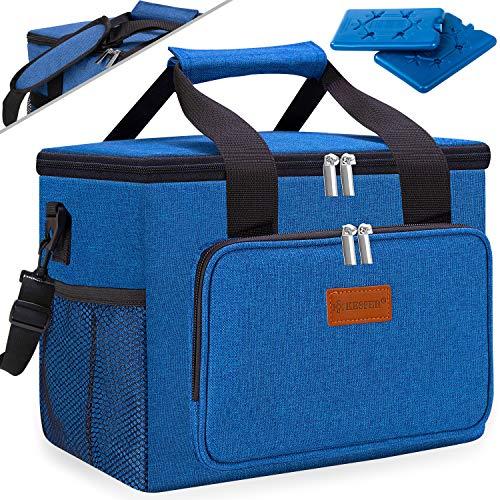 KESSER® 15L Kühltasche faltbar Groß Schultergurt Kühlkorb Kühlbox Isoliertasche Thermotasche Picknicktasche für Lebensmitteltransport Lunchtasche Isoliert für Aufbewahrung von Wärme und Kälte (Blau)
