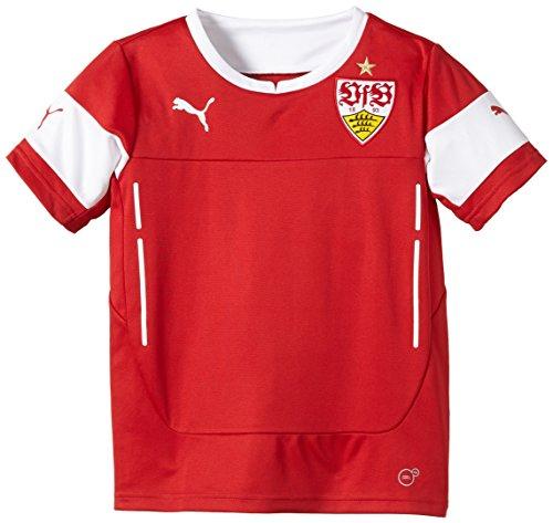 PUMA Kinder T-Shirt VfB Stuttgart Training Jersey, Team Regal Red-White, 128