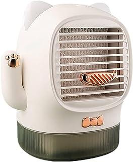 Bärbar luftkonditioneringsfläkt, personlig mini evaporativ luftkylare uppladdningsbar | 3 i 1 USB skrivbordskylning Luftfu...