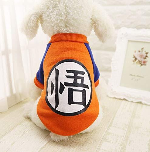 DZSHYXGW hondenkleding voor kleine honden, fleecejack voor puppy's, dieren, cartoon-patroon met capuchon voor chihuahua hond, S, FO