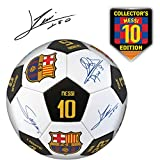Official FC Barcelona Soccer Ball with Player Signatures and Player Numbers, Size 5