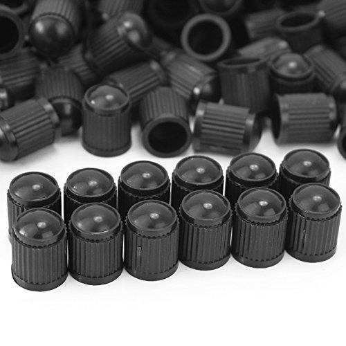 Lot 150 Bouchons de Valve Noir en Plastique pour Auto Moto Voiture 1.3 * 1cm
