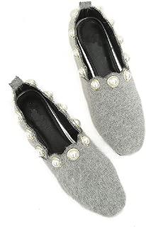 Gold Cloud Women GC0443 Leather Almond Toe Flat Comfort Shoes