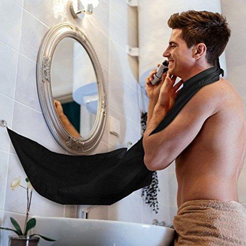 Bravehope - Delantal para Hombre, Diseño de Barba de Afeitar, Negro, 70 * 100cm