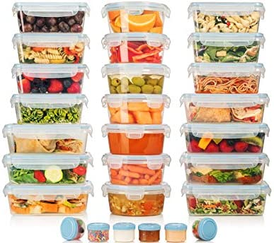 HUGE SET 42 Pack Food Storage Containers with Airtight Lids Easy Snap Lock Leak Proof Lunch product image