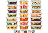 HUGE SET - 42 Pack - Food Storage Containers with Airtight Lids - Easy Snap Lock - Leak Proof Lunch/Bento Box - BPA Free - Freezer & Microwave Safe - Plastic Storage Container Set - by Shazo