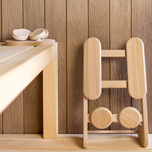 Abachi Holz – Sauna Kissen Kopfstütze ergonomisch perfekt für jeden Kopf - 3