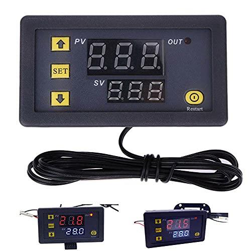 KTING Controlador de temperatura digital inteligente, interruptor de control de temperatura del termostato, alarma de alta temperatura,