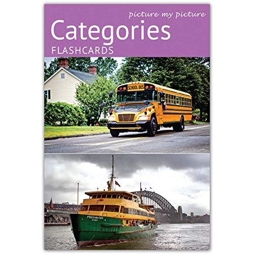 Picture My Picture Categorie Flash Cards | Carte Linguaggio Inglese per Bambini e Adulti | Materiale ABA Autismo - Giochi Educativi Autismo