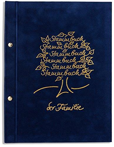 A4 Stammbuch Hochzeit Bero blau Standesamt incl. 11 Klarsichthüllen