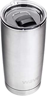 20oz Wave Travel Tumbler - Insulated Coffee Cup - Insulated Travel Mug - Stainless Steel Tumbler - Vacuum Travel Mug (Silver)