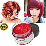 Best Bright Red Hair Dyes - Red Hair Wax Color Temporary Dye Hairstyle Cream Review