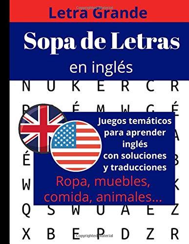 Sopa de letras en inglès: libro de sopa de letras para adultos y mayores: 1 (aprender inglès para adultos)